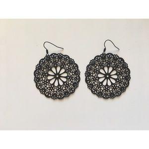 Jewelry - 3 for $25 - Black Filigree Earrings